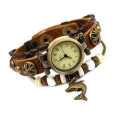 Punk Style Dolphin Bracelet Watch
