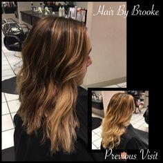 #hairbybrooke #darkbase #balayage #darkroot #lobhaircut