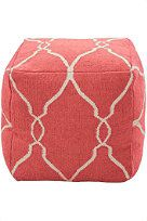 The Kate Pouf in Coral. Perfect for the living room, office, bedroom, patio or nursery. #pouf
