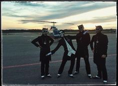 [MESSAGE FROM THE CLERGY]  Papa & the Ghouls arriving back to Örebro after going to a special event in Stockholm the other day. Sometimes you just have to get in the chopper.  The Nameless Ghouls Official Ghost Cult. #TNGofficial