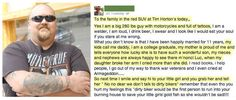 Mother Tells Daughter Not To Talk To Dirty Bikers, Here's His Epic Response!