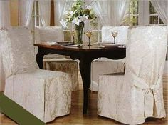 Luxury Woven Jacquard Dining Room Chair Covers White Chairs Home Design
