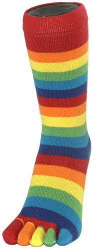 Stripey Socks - Rainbow Toe Socks by Toe Toe - Taste The Rainbow, Over The Rainbow, Rainbow Colors, Vibrant Colors, Colours, Rainbow Promise, Rainbow Socks, Rainbow Connection, Toe Socks