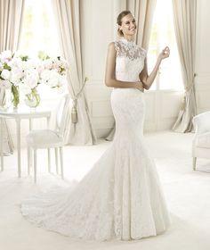Pronovias apresenta o vestido de noiva Ugalde, Costura 2013. | Pronovias