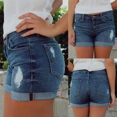 Medium Wash High Waisted Boyfriend Shorts | UOIonline.com: WOmen's Clothing Boutique