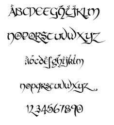 tolkien font