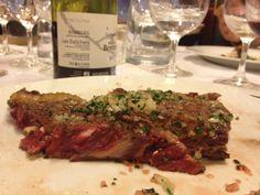 Perfect steak at La Regalade, Paris.