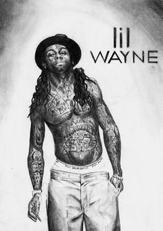 Lil Wayne drawing, not by me