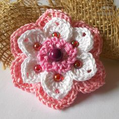 kytičky | Hrajeme si háčkováním hraček Irish Crochet, Crochet Flowers, Paper Flowers, Hair Bows, Free Pattern, Diy And Crafts, Crochet Earrings, Quilts, Hats