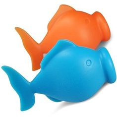 Eitrenner - 2 Pack - Lustiger Eigelbtrenner / Eiertrenner / Eidottertrenner / Egg Separator im Fisch Design Ei - Blau & Orange - 100% Zufriedenheitsgarantie by Chefrino