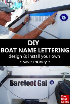 Doing the design and installation work on our DIY vinyl lettering was easier than we expected and VERY cost-effective! Here's how. via @TheBoatGalley