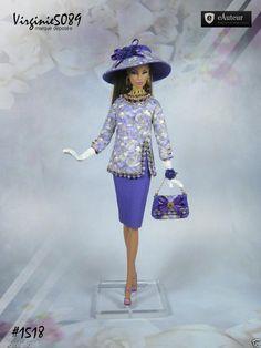 Tenue Outfit Accessoires Pour Fashion Royalty Barbie Silkstone Vintage 1518 | eBay