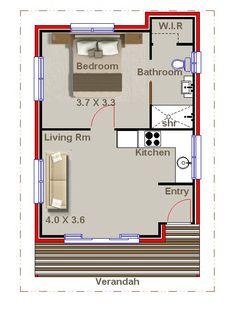 NEW FLOOR PLANS-1 bedroom granny flat … | Pinteres…