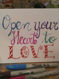 Open ur heart to love