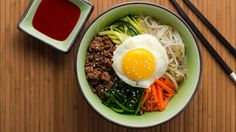 Bibimbap - replace the steamed rice with some cauliflower rice, badaboom! (Also, adjust the sweetner and maybe some tamari instead of soy sauce, but I'm not too picky.)