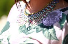 Fashion After Breakfast: DIY Pastel Collar Necklace
