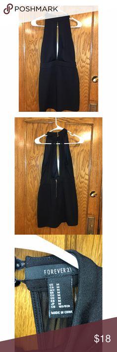 Your little black dress 😋 Black low-cut mini dress open back Forever 21 Dresses Mini