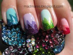 skittle explosion nails