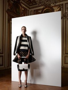 Stripes on strips on flair shapes. Lanvin Resort 2013
