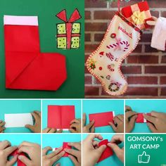 Dieses Video führt Sie durch die Schritte ...  #weihnachten #weihnachten Diy Origami, Origami Christmas, Diy Weihnachten, Christmas Stockings, Holiday Decor, Home Decor, Art, Make Christmas Decorations, Homemade Home Decor