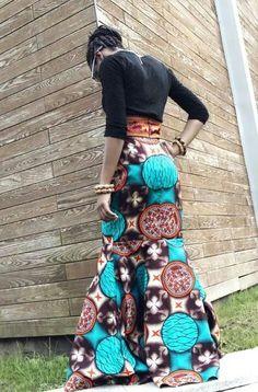 African print skirt