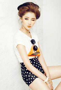 Korean Fashion #dotted high waisted shorts