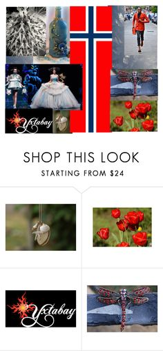 """Norway!  Red White & Blue for Nasjonaldagen"" by yxtabay ❤ liked on Polyvore featuring jewelry and pocpolyvore"