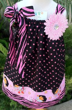 Dora Pillow case dress on Etsy by Baby Threads by Liz