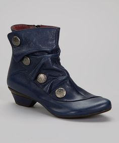 Another great find on #zulily! Blue Soho Leather Ankle Boot by Eric Michael by Laurevan #zulilyfinds