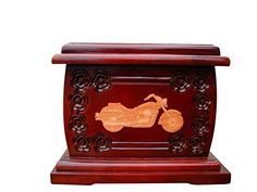 Urnporium Adult Mahogany Biker Featuring Cherry Onlay Motorcycle Wooden Funeral Urn for Human Ashes Urnporium http://www.amazon.com/dp/B00YWA2E26/ref=cm_sw_r_pi_dp_tLbhwb1FCJRJS