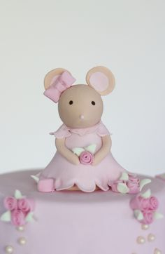 mouse cake topper by petite homemade