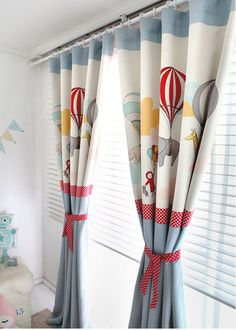[ D E S C R I P T I O N ]  Blue Adballoon Kids Blackout Curtains, Nursery Blackout Curtains, Kids Curtains, Children Curtains, Kidsroom Curtains, Kids Window Curtains  For sale is a pair of beautiful Adballoon Blackout Curtains. Almost 70-80% blocks light, absorbs noise, insulates against heat and cold. The Size of the panel is 51 W x 90 L ONLY.  This listing includes two curtain panels. Edges and hems are professionally finished with top-stitching all around. (Bottom hem: 4 inches, Side…