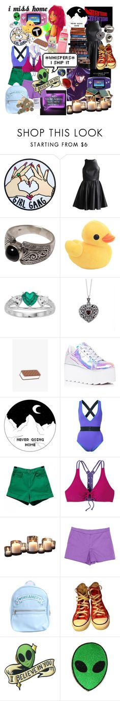 """""""raven/starfire"""" by magicaltomboi ❤ liked on Polyvore featuring NOVICA, Nintendo, Lily Blanche, Yesterdays, Y.R.U., Diane Von Furstenberg, American Apparel, prAna, Danya B and Sonia by Sonia Rykiel"""