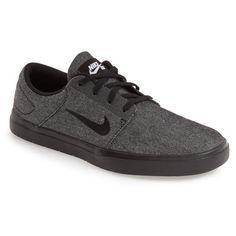 Men's Nike 'Sb Portmore Ultralight' Skate Sneaker ($65) ❤ liked on Polyvore featuring men's fashion, men's shoes, men's sneakers, nike mens shoes, mens skate shoes, nike mens sneakers, men's low top shoes and mens shoes