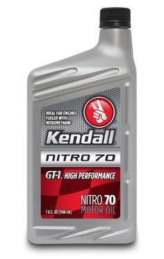 Kendall 1043073 GT1 High Performance Nitro 70 Motor Oil for Nitromethane and AlcoholFueled Competition Engines  1 Quart Bottle Case of 12 ** Check out this great product.