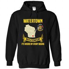 Watertown - Its where my story begins! - #tshirt necklace #swetshirt sweatshirt. GUARANTEE => https://www.sunfrog.com/No-Category/Watertown--Its-where-my-story-begins-6048-Black-Hoodie.html?68278