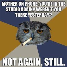 Art Student Owl Artist humor