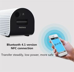 REMAX RB-H1 8800mAh SD Stereo Wireless Bluetooth Speaker Power Bank With NFC Sale - Banggood.com