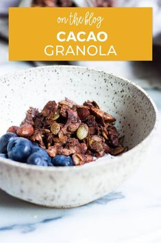 If you're looking for a decadent and filling snack that's also nourishing, look no further than this Cacao Granola recipe. It makes the perfect fall snack and is a guilt-free way to satisfy chocolate and sweet tooth cravings. Make a large batch on meal prep days to have on hand during the busy week! Raw Oats, Filling Snacks, Fall Snacks, Snack Recipes, Healthy Recipes, Healthy Chocolate, Guilt Free, Recipe Today, Healthy Treats