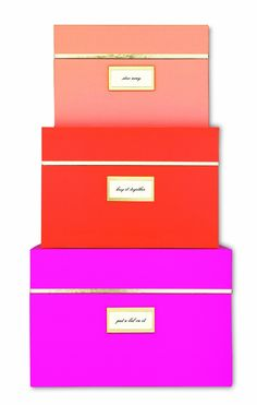 Amazon.com - Kate Spade New York Nesting Boxes - Neon -