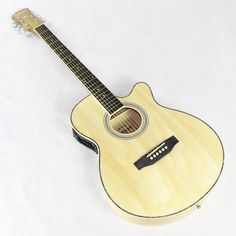 115.68$  Buy now - http://alit17.worldwells.pw/go.php?t=32761880314 - Thin BodyElectro Acoustic Electric Folk Pop Flattop Guitar Jumbo 40 Inch Guitarra 6 String Light Built-in Tuner Cutaway Basswood 115.68$