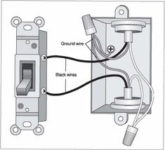 change out light switch from single switch to double switch, Wiring diagram