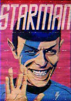 Starman ☆ Spock ☆ David Bowie ☆ aladdin sane ☆ Pop Juggernaut by Butcher Billy on tumblr