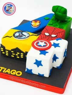 Discover recipes, home ideas, style inspiration and other ideas to try. Avengers Birthday Cakes, Hulk Birthday, Superhero Birthday Cake, 4th Birthday Cakes, 4th Birthday Parties, Superhero Party, Superman Party, Birthday Boys, Pastel Avengers