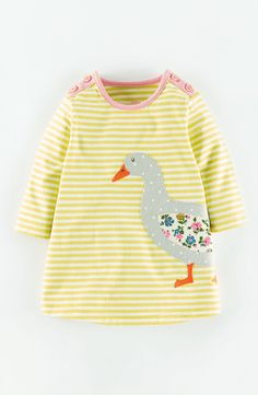 Free shipping and returns on Mini Boden 'Stripy' Appliqué Jersey Dress (Baby Girls) at Nordstrom.com. An animal-friend appliqué puts Mini Boden's signature spin on this striped and sturdy, cotton-jersey dress.