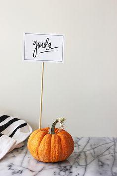 pumpkin buffet idea...