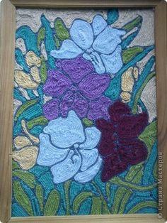 цветы Classroom Art Projects, Art Classroom, Summer Art Projects, Yarn Painting, Mexican Art, Yarn Projects, Art Club, Yarns, Fiber Art