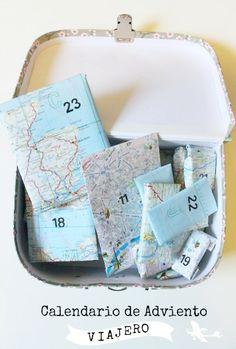 ¿Tienes ya tu calendario de adviento? Haz uno que sea muy viajero como este #Idea #DIY
