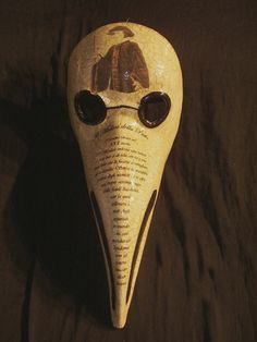 plague mask | Plague Doctor crackle and story mask from Terrigena Venetian Masks for ...