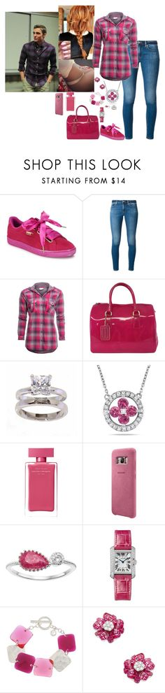 """""""Untitled #1183"""" by babybren-fany ❤ liked on Polyvore featuring Puma, MICHAEL Michael Kors, Columbia, Furla, NEXTE Jewelry, Amour, Narciso Rodriguez, Samsung, LC Lauren Conrad and Cartier"""